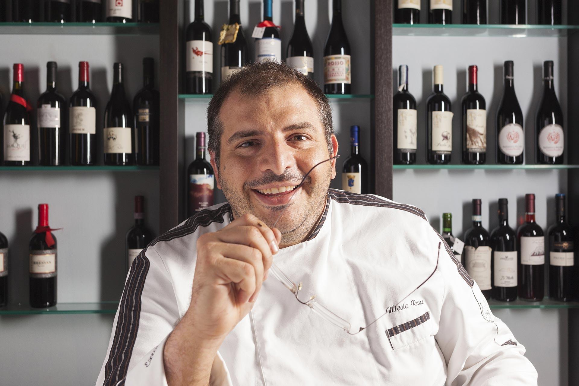 """Chef Nicola Russo - restaurant """"Al Primo Piano"""", Foggia, Italy"""